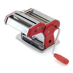 Norpro 1049R Pasta Machine Silver Red with Pasta Drying Rack