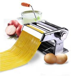 "150mm 6"" Pasta Maker & Roller Machine Noodle Spaghetti & Fet"