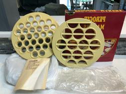 Perogie Maker 1984 Vintage 2 Pasta maker molds + Recipe Book