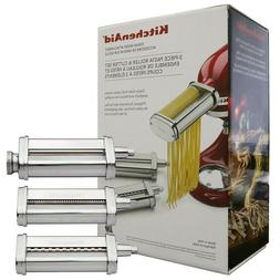 KitchenAid 3 Piece Pasta Roller & Cutter Attachment Set Silv