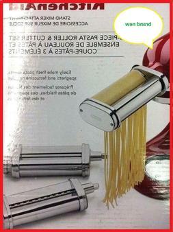 KitchenAid 3 Piece Pasta Roller & Cutter Attachment Set Silv