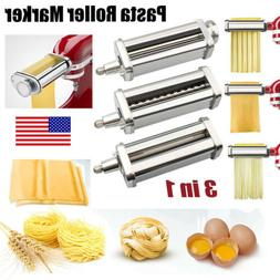 3IN1 Pasta Roller Attachment Stainless Steel Pasta Maker Mac