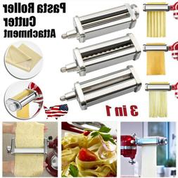 3in1 Pasta Roller Cutter Attachment Set for KitchenAid Stand