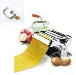 "6"" Fresh Pasta Maker & Roller Machine Noodle Spaghetti & Fet"