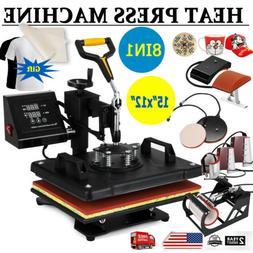 8 in 1 Digital Heat Press Machine Sublimation For T-Shirt/Mu