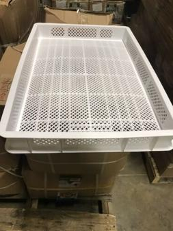 8 White Plastic rack Perforated Stackable Drying Trays for a
