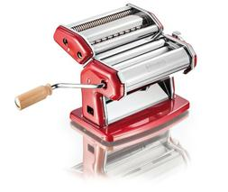 "Imperia: ""La Rossa"" Chromed Steel Pasta Machine, RED"