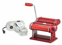 Atlas Electric Pasta Machine Red