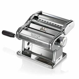 Marcato Atlas Pasta Machine, Made in Italy, Chrome, Includes