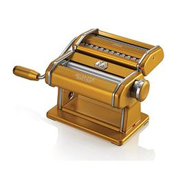 Marcato Atlas Pasta Machine, Stainless Steel, Gold, Includes