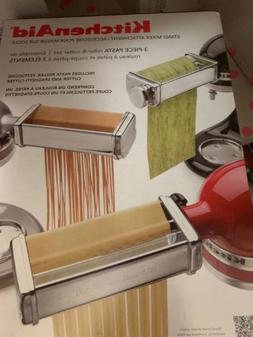 BRAND NEW KitchenAid 3 Piece Pasta Roller & Cutter Attachmen