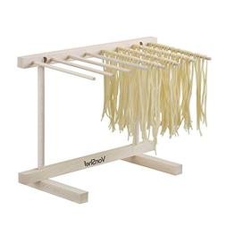 VonShef Collapsible Wooden Pasta and Spaghetti Drying Rack S