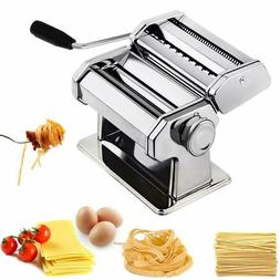 Sailnovo Pasta Machine, Stainless Steel Manual Pasta Maker R