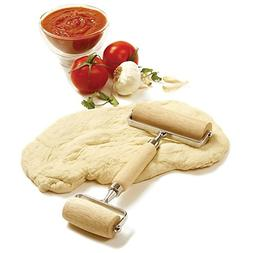 Norpro Double Pastry Roller Deluxe Wooden For Pasta Pie Pizz