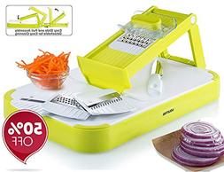 Gourmia GMS9255 Mandoline Slicer & Cutting Board Set Kitchen