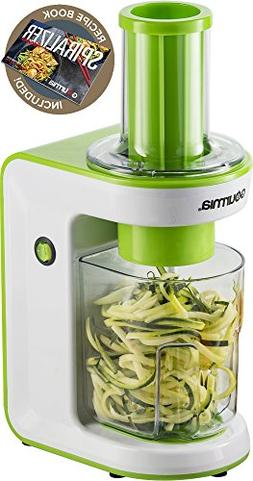 Gourmia GES580 Electric Spiralizer with 3 Blades Recipe Book