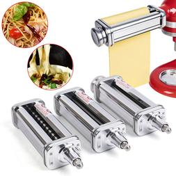 Kitchen 3-Piece Pasta Roller and Cutter Stainless Set for Ki