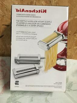 Kitchen Aid 3 Piece Pasta Roller & Cutter Set  - New In Box