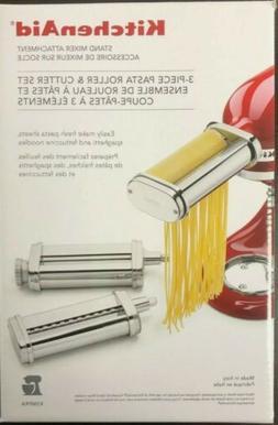 KITCHEN AID Stand Mixer Attachment 3-Piece Pasta Roller & Cu