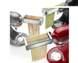 KitchenAid Kpra Pasta Roller Cutter Maker 3-piece Stand Mixe