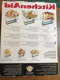 KitchenAid KPRA 3-Piece Pasta Roller and Cutter Set - Silver