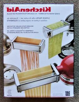 Kitchenaid KPRA 3 Piece Pasta Roller Cutter Maker Stand Mixe