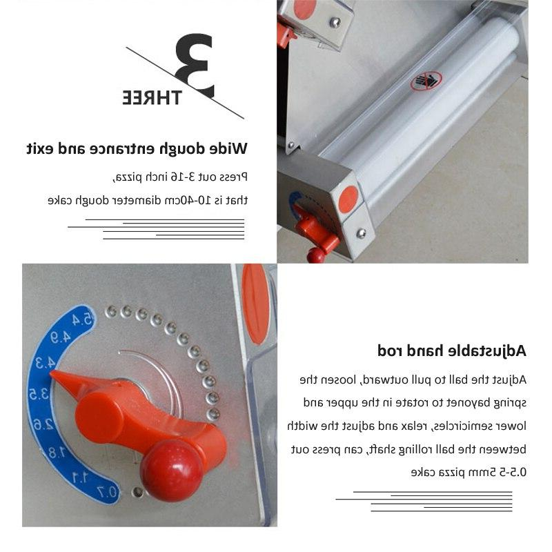 10-40cm Commercial <font><b>machine</b></font> Automatic bakery <font><b>pizza</b></font> roller press <font><b>machine</b></font> Electric <font><b>pasta</b></font> <font><b>tool</b></font>