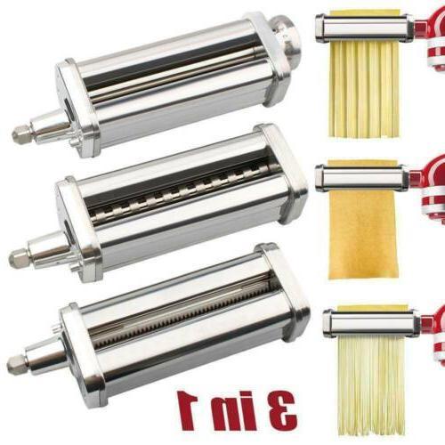 3IN1 Pasta Attachment Stainless Machine Set