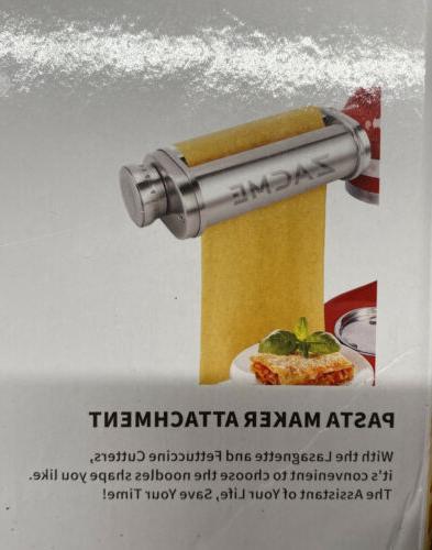 3-piece Pasta Maker Attachment Mixer New Stainless