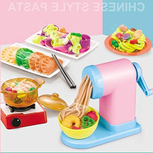 Timall 3D Mold Mud Clay Machine Kitchen Pretend Play Toy Chinese Tool Kit