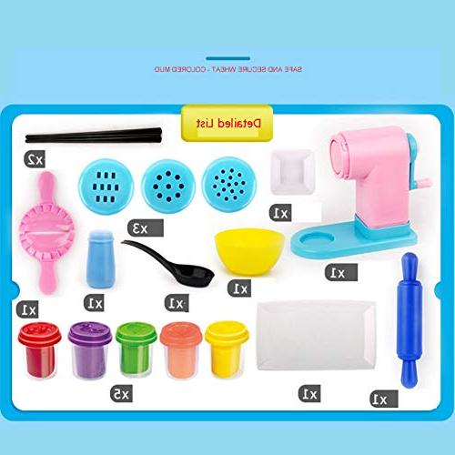 Timall 3D Mold Noodle Clay DIY Noodles Machine Pretend Tool Kit