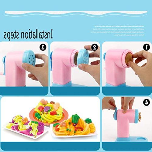 Timall Mold Noodle Clay Machine Pretend Tool Kit