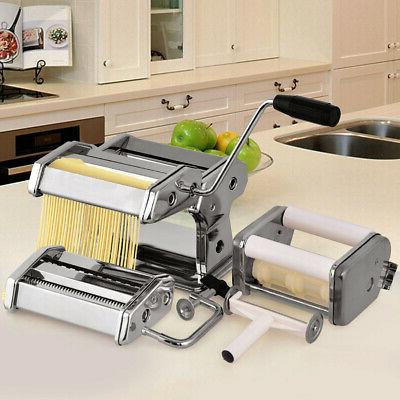 Yellow 5-in-1 Stainless Steel Pasta Lasagne Spaghetti Maker