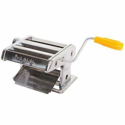 """6"""" & Roller Machine Noodle Spaghetti & Fettuccine Silver"""