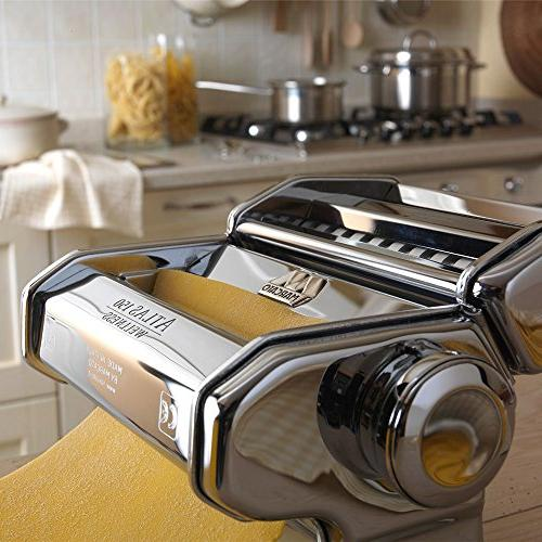 Marcato Pasta Machine, Made in Includes Hand Crank,