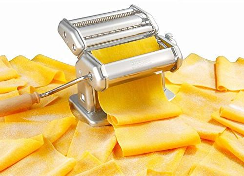 Imperia Pasta Maker - Steel Construction Lock Dial and Handle- in Italy