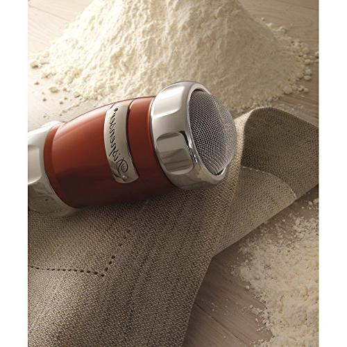 "Marcato Flour Duster Shaker, Made 2.5"" Red"
