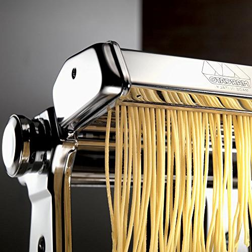 Marcato Pasta Machine, Made Italy, Includes Pasta Machine with Pasta Cutter, Hand Crank,