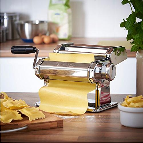 VonShef 3-in-1 Stainless Pasta Maker Cut Blade Table Top and Pasta