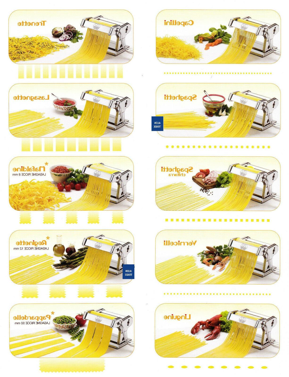 Marcato Pasta Machine Different Shapes