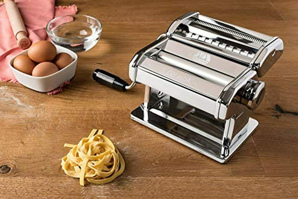 Marcato Design Pasta Machine, Italy, Includes Cutter, Hand Cra