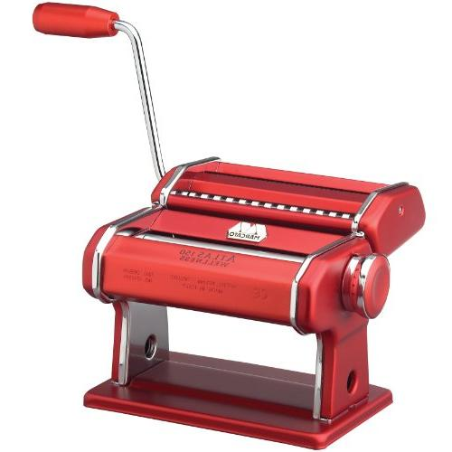 Marcato Made Red, Includes Pasta Cutter, Crank, and Red, Red