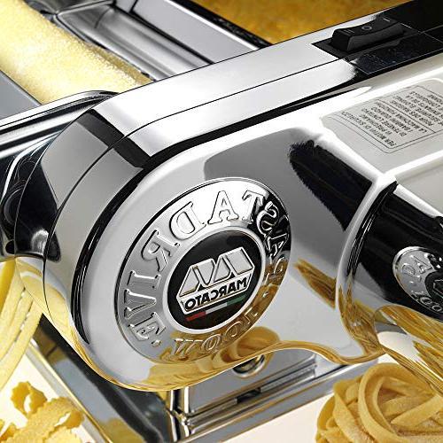Marcato Atlas Pasta Machine, Silver Machine Motor, Silver Pasta Motor