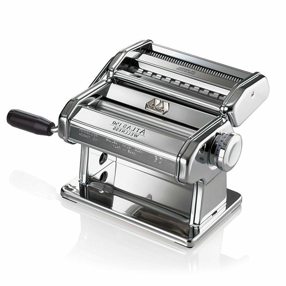 atlas pasta maker stainless steel italian pasta