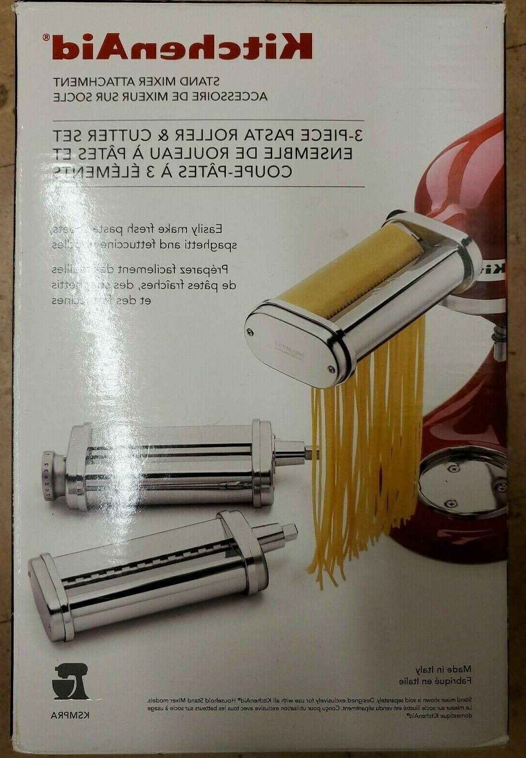 brand new ksmpra 3 piece pasta roller
