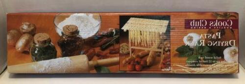 cooks club pasta wooden pasta drying rack