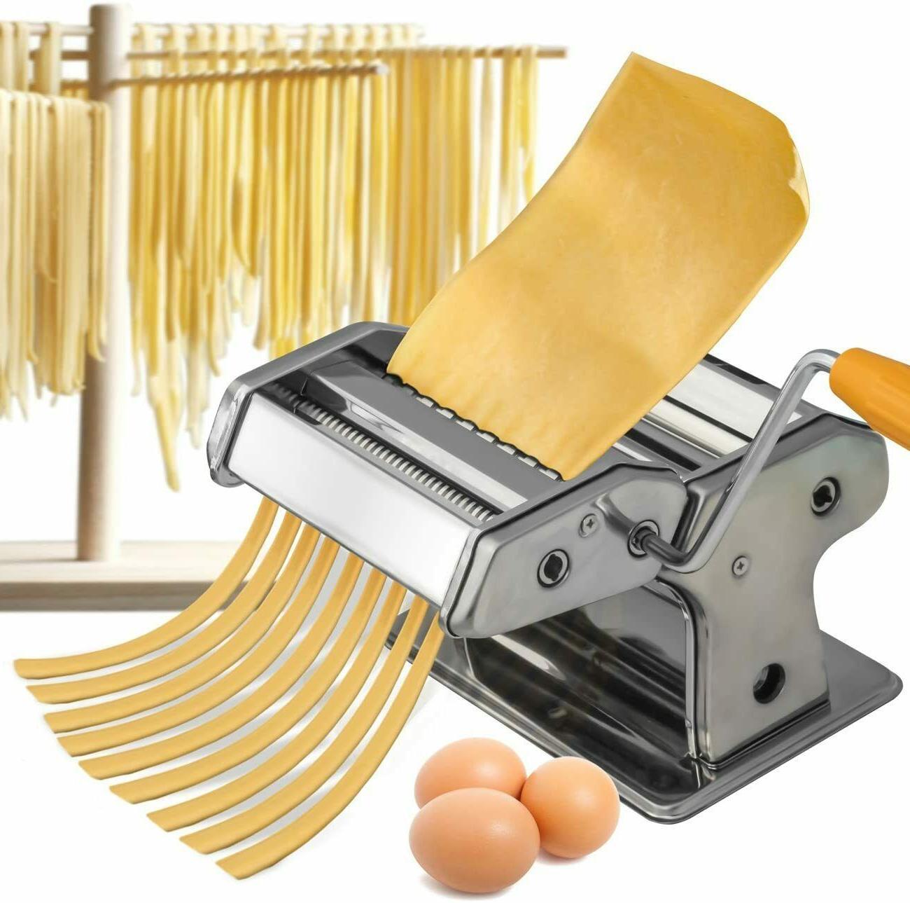 OxGord Haven Stainless Steel Pasta Maker Machine - Fresh