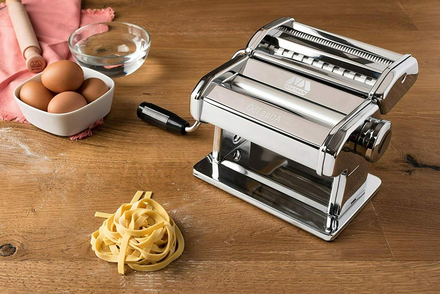 Marcato Atlas 150 Pasta Machine, Made in Italy, Includes Cut