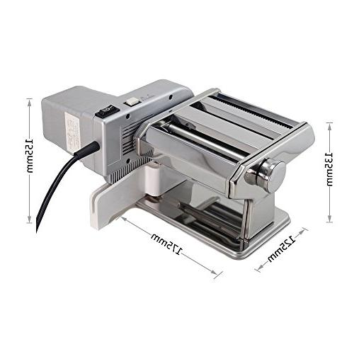 Yunko Machine with Stainless Steel Machine For Homemade Lasagne Fettuccine Tagliolini Silver