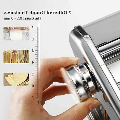 Fresh Pasta Roller Noodle Maker Stainless Steel Cutter Manual